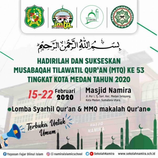 Sekolah Namira Menjadi Tempat MTQ ke 53 Kota Medan