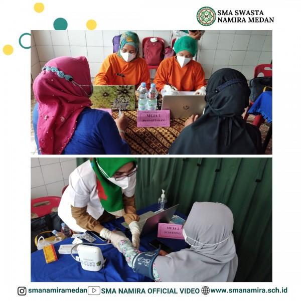 Pelaksanaan Vaksinasi Guru dan Karyawan Sekolah Namira