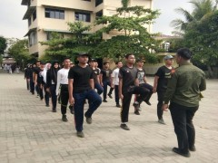 Latihan Paskibra : Persiapan Pengibaran Bendera 17-8-2018