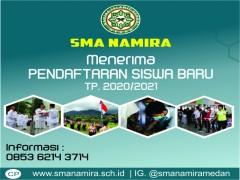 Pendaftaran SMA Namira TP. 2020-2021