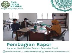 Pembagian Laporan Hasil Belajar Siswa Tengah Semester
