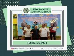Siswa SMA Namira Juara III Kejurda Karate Sumut 2020